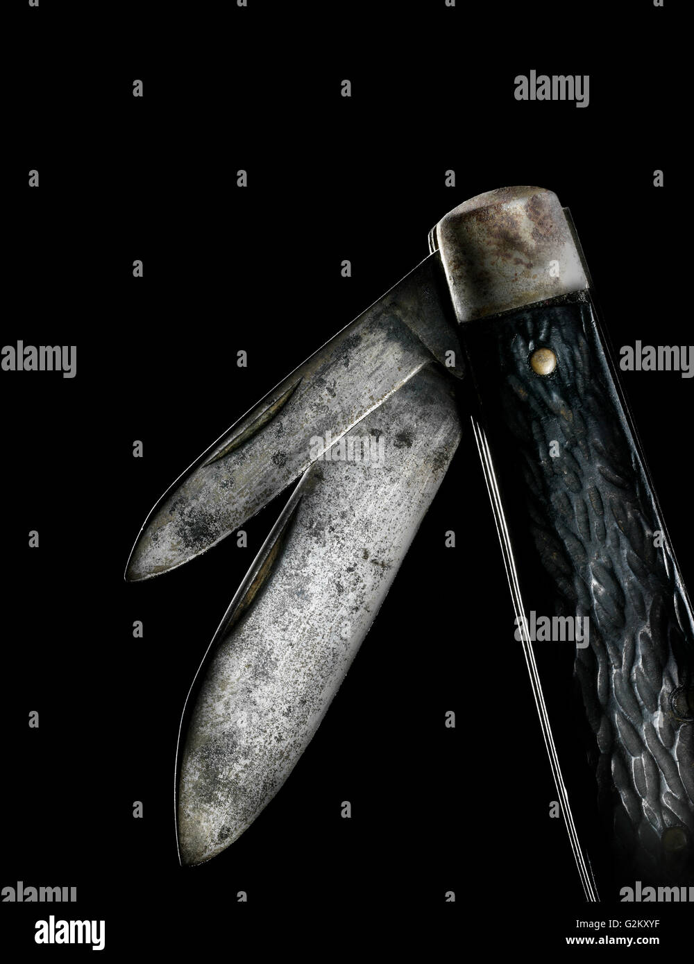 Pocket Knife Blades - Stock Image
