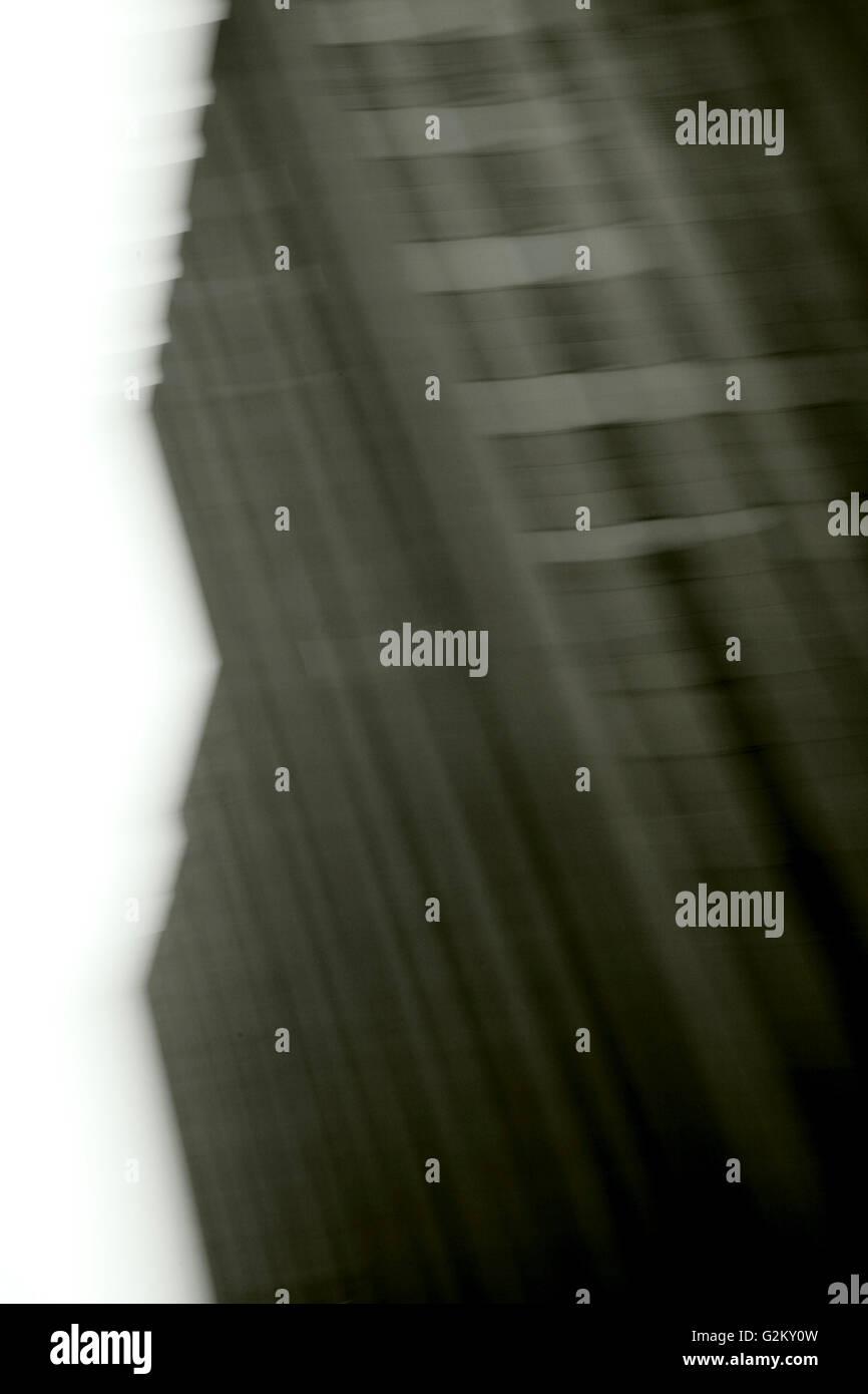 Motion Blur Buildings - Stock Image