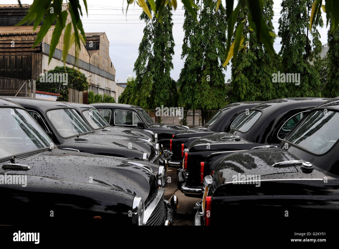 INDIA Kolkata Calcutta , HM Hind Motors car factory, here the Ambassador is still produced after license of Oxford - Stock Image