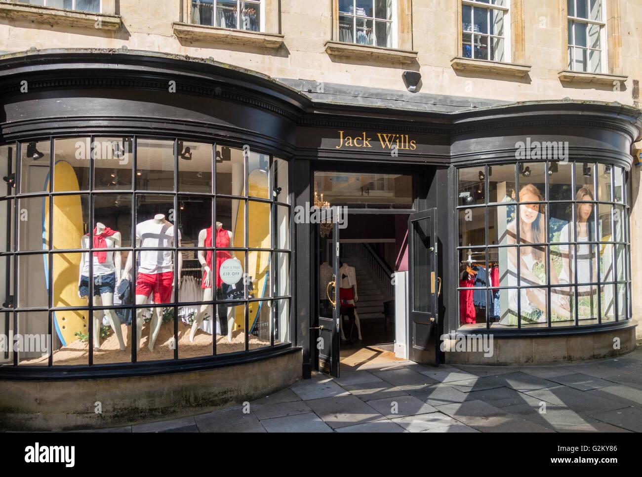Jack Wills, Bath, England - Stock Image
