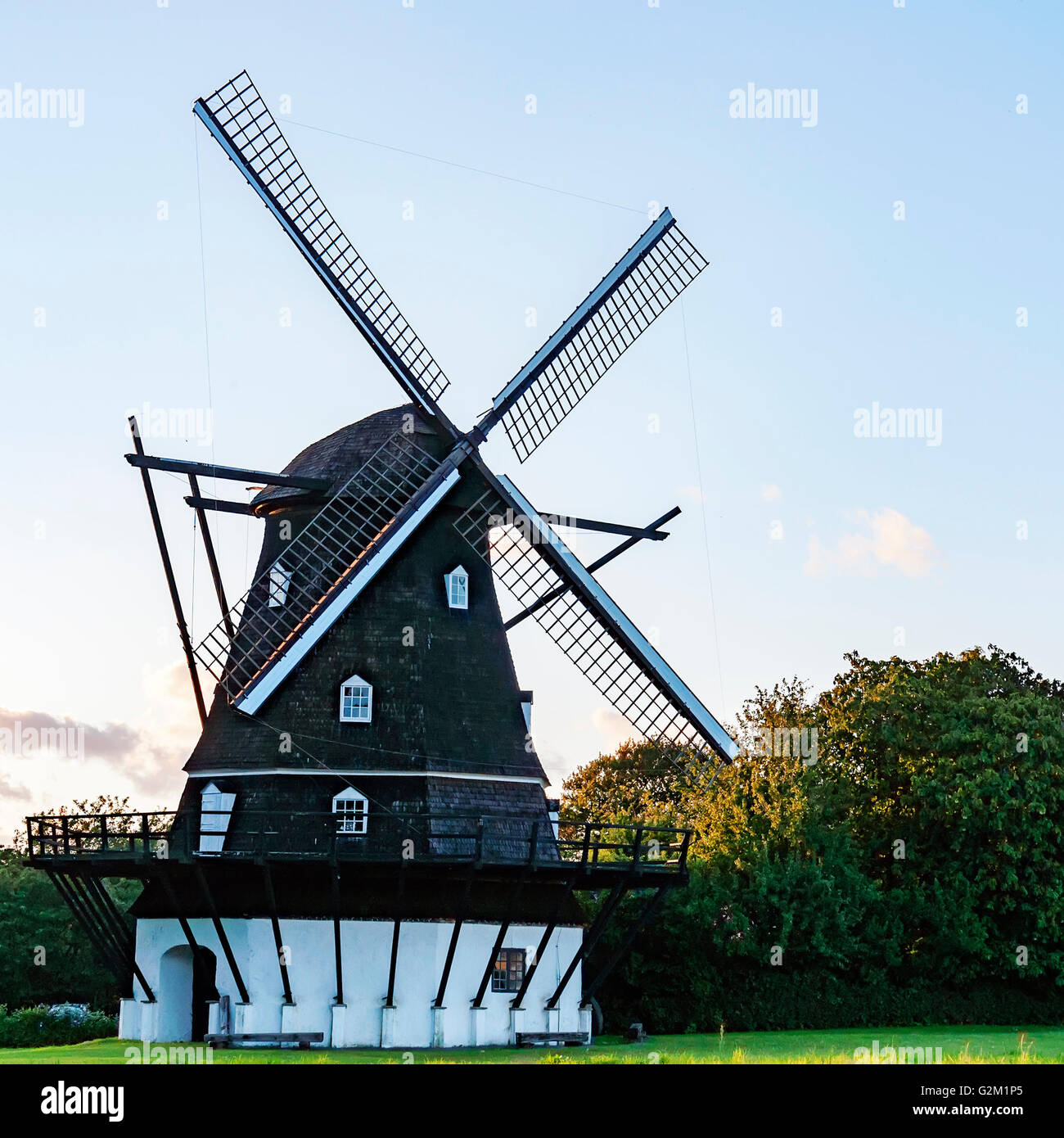 89d171577366 Image of a traditional type of windmill. Helsingborg, Sweden Stock ...