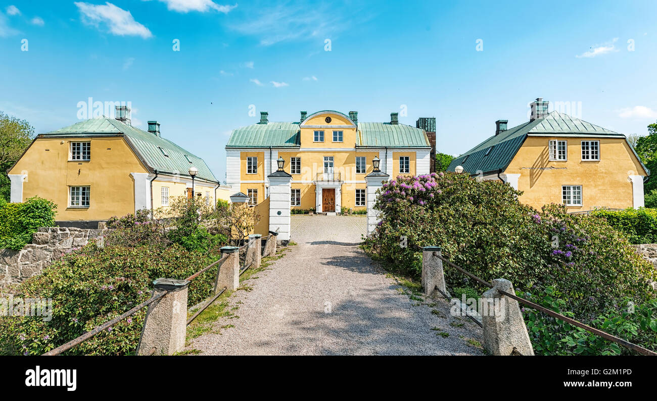 An image of Wapno castle situated in the halland region of Sweden. - Stock Image