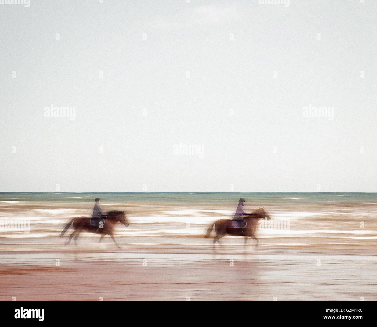DIGITAL ART: Riding the Tide - Stock Image