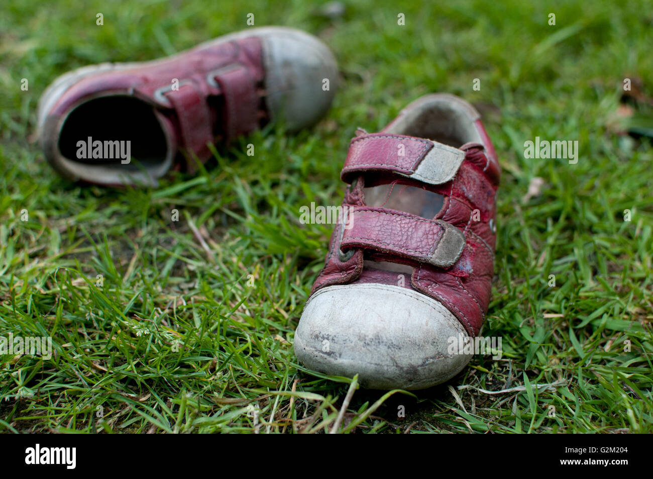 children's shoes - Stock Image