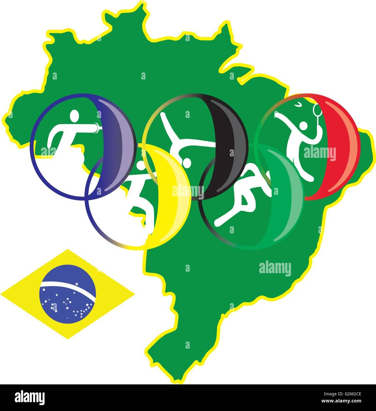 brasilia sport 2016 - Stock Vector