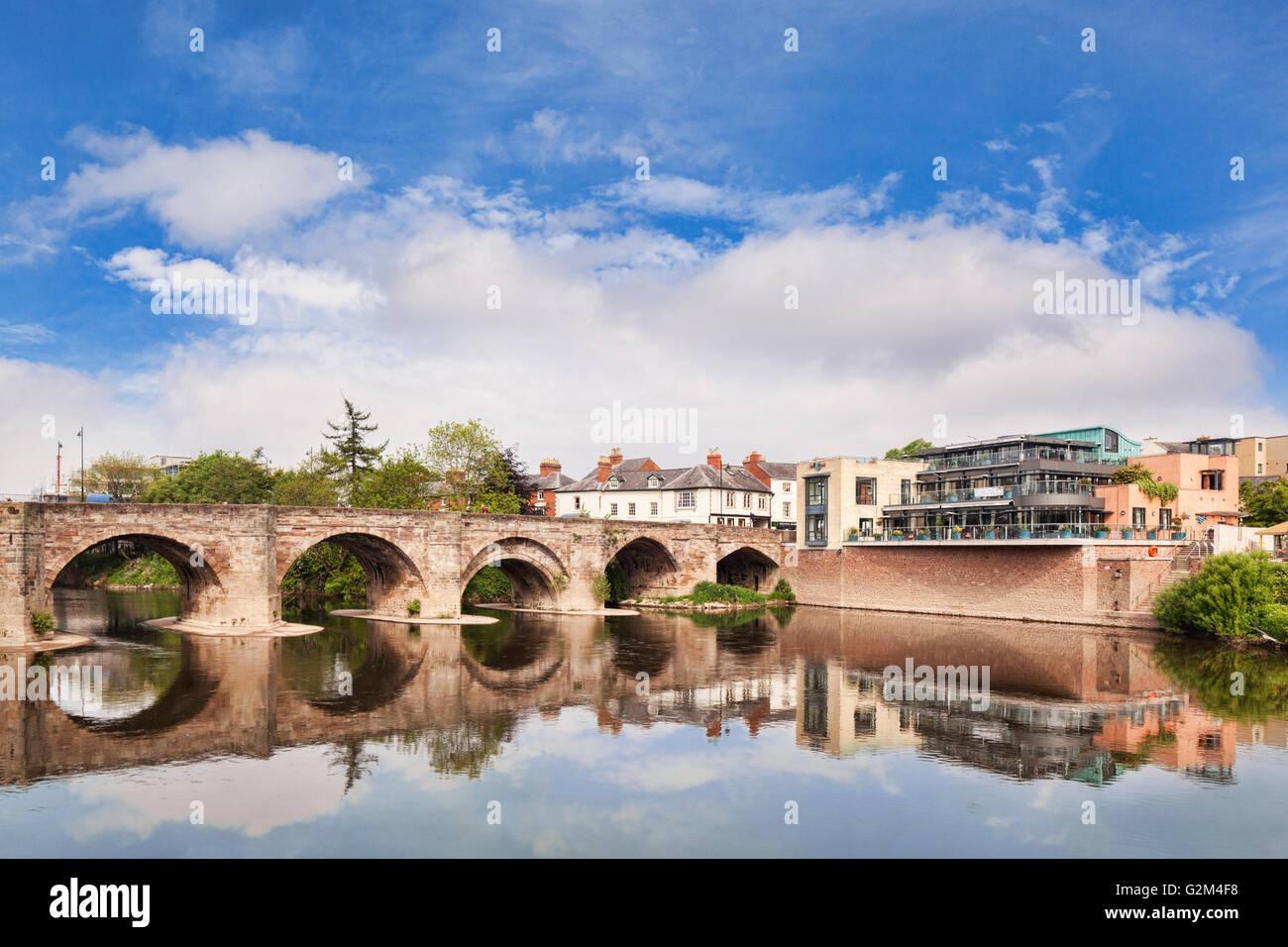 Wye Bridge, Hereford, Herefordshire, England, UK - Stock Image