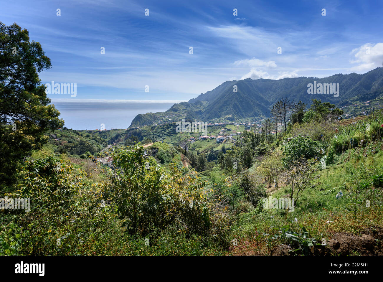 Northern Madeira landscapes - Stock Image
