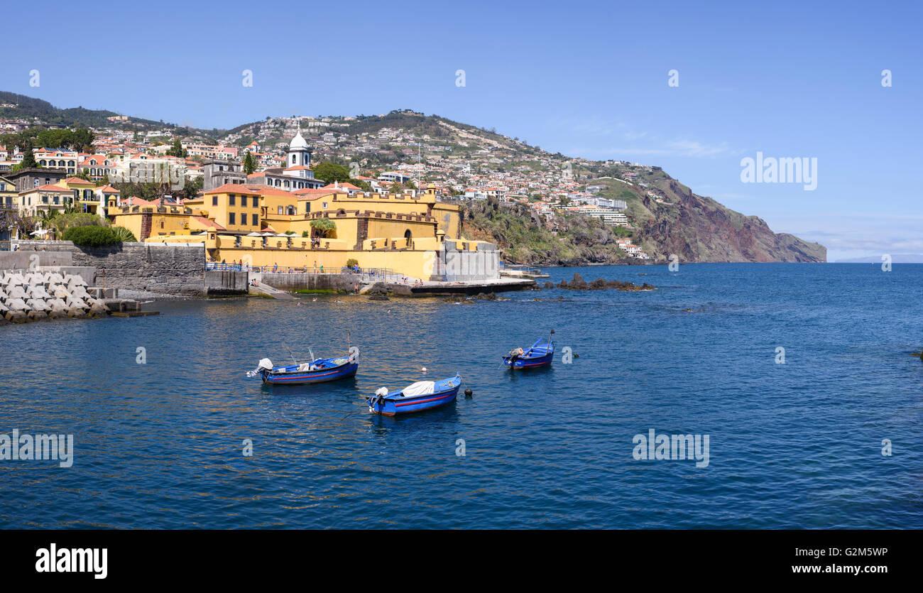 Santiago Fortress (Fortaleza de Sao Tiago), Saint James Fort, Funchal, Madeira - Stock Image