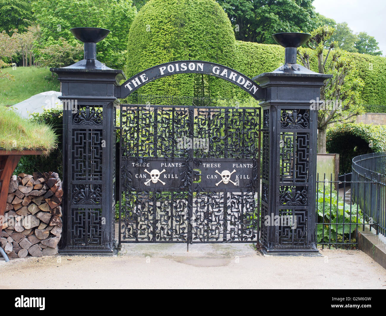 Gateway To The Poison Garden At Alnwick Gardens Northumberland