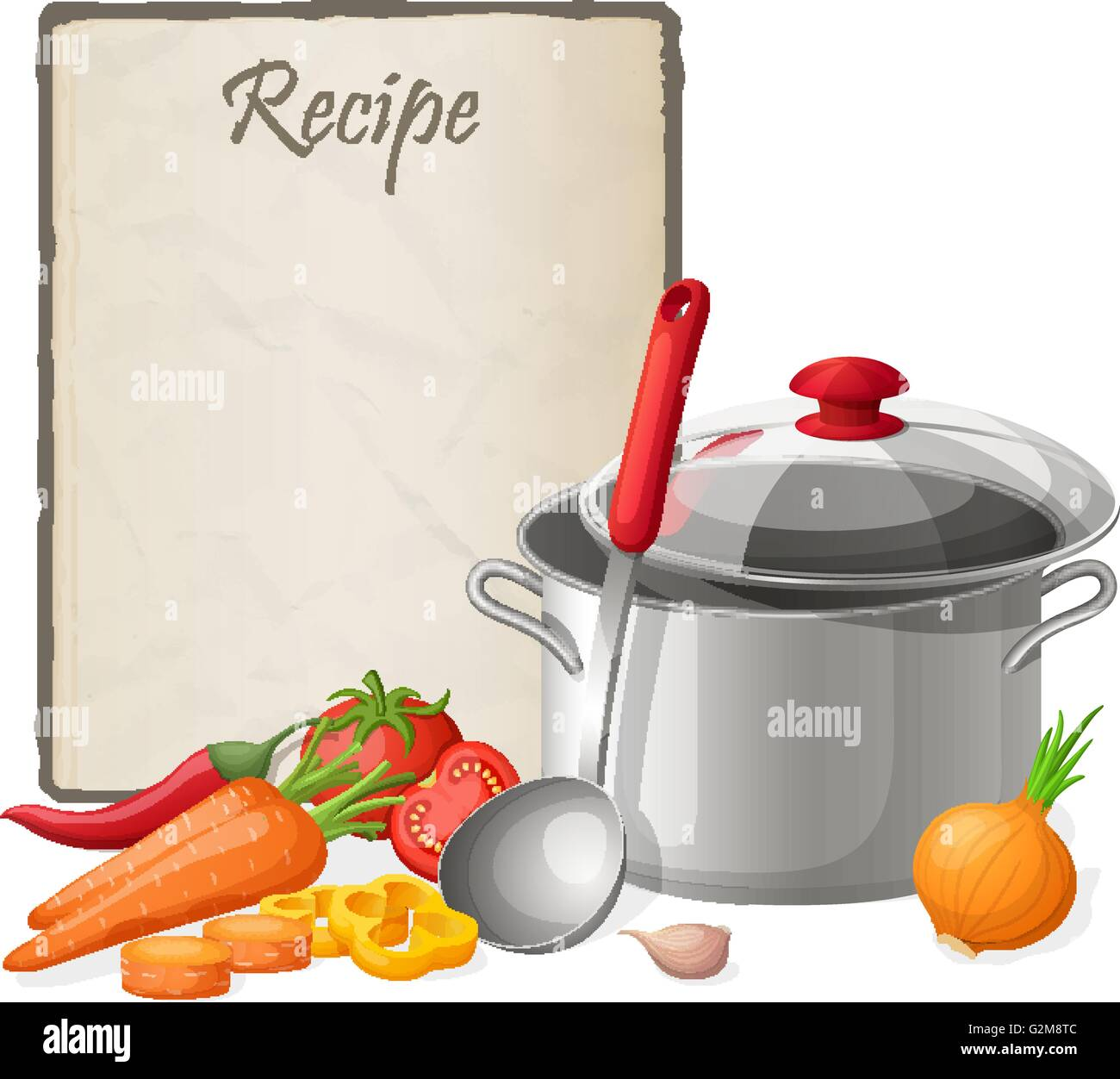Recipe card kitchen note blank template vector illustration recipe card kitchen note blank template vector illustration cooking notepad on table with kitchenware and vegetables forumfinder Gallery