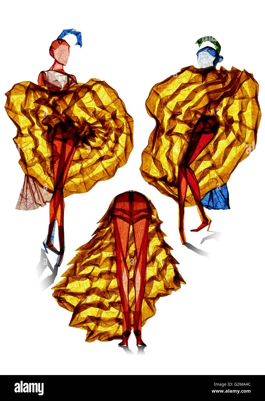 Women in long skirts - Stock Image