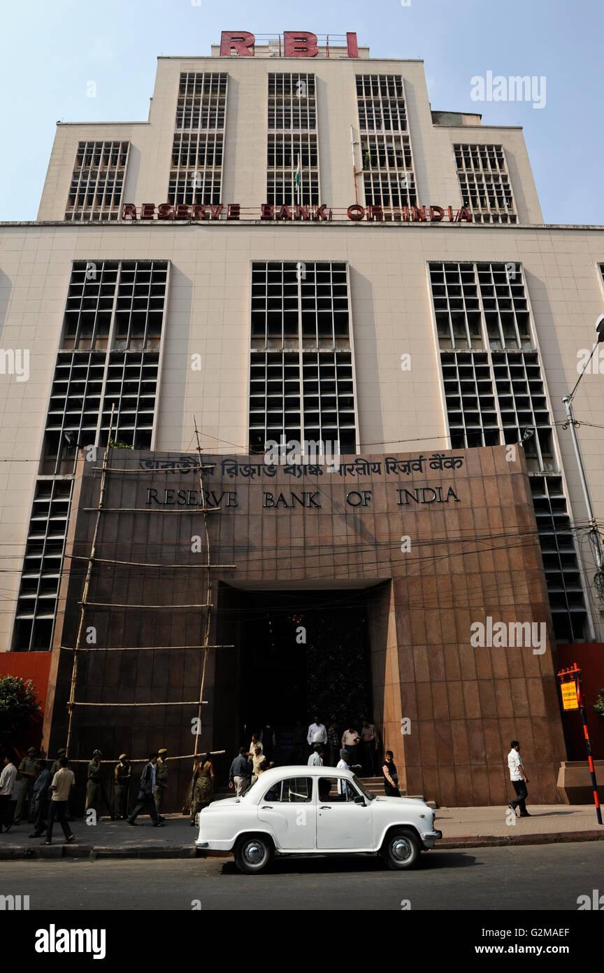 INDIA Westbengal, Calcutta, Kolkata, Reserve Bank of India / INDIEN, Westbengalen, Kolkata, Reserve Bank of India - Stock Image