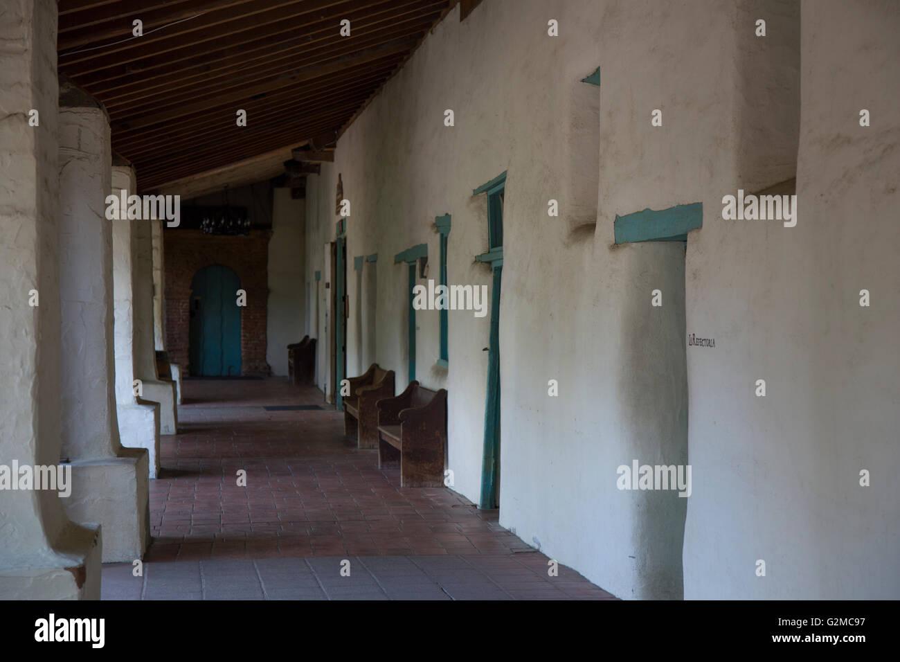 A walk through Mission San Juan Bautista - Stock Image