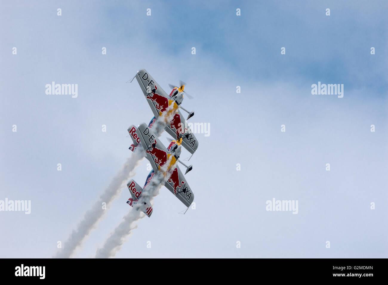 Redbull Display Team Duxford American Airshow May 2016 - Stock Image