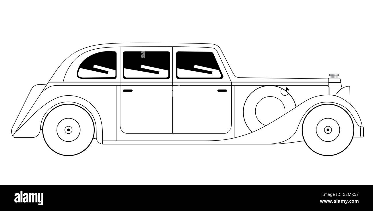 Sedan - vintage model of car - Stock Image