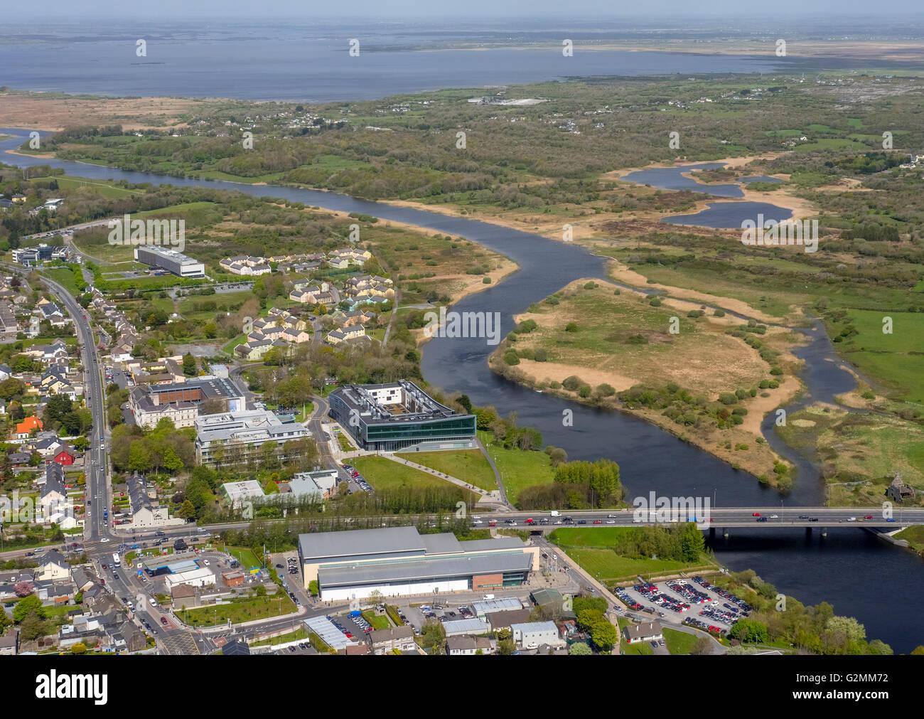 Aerial view, School of Nursing, University of Galway, University of Galway, Galway, Galway, COUNTY CLARE, Galway, - Stock Image