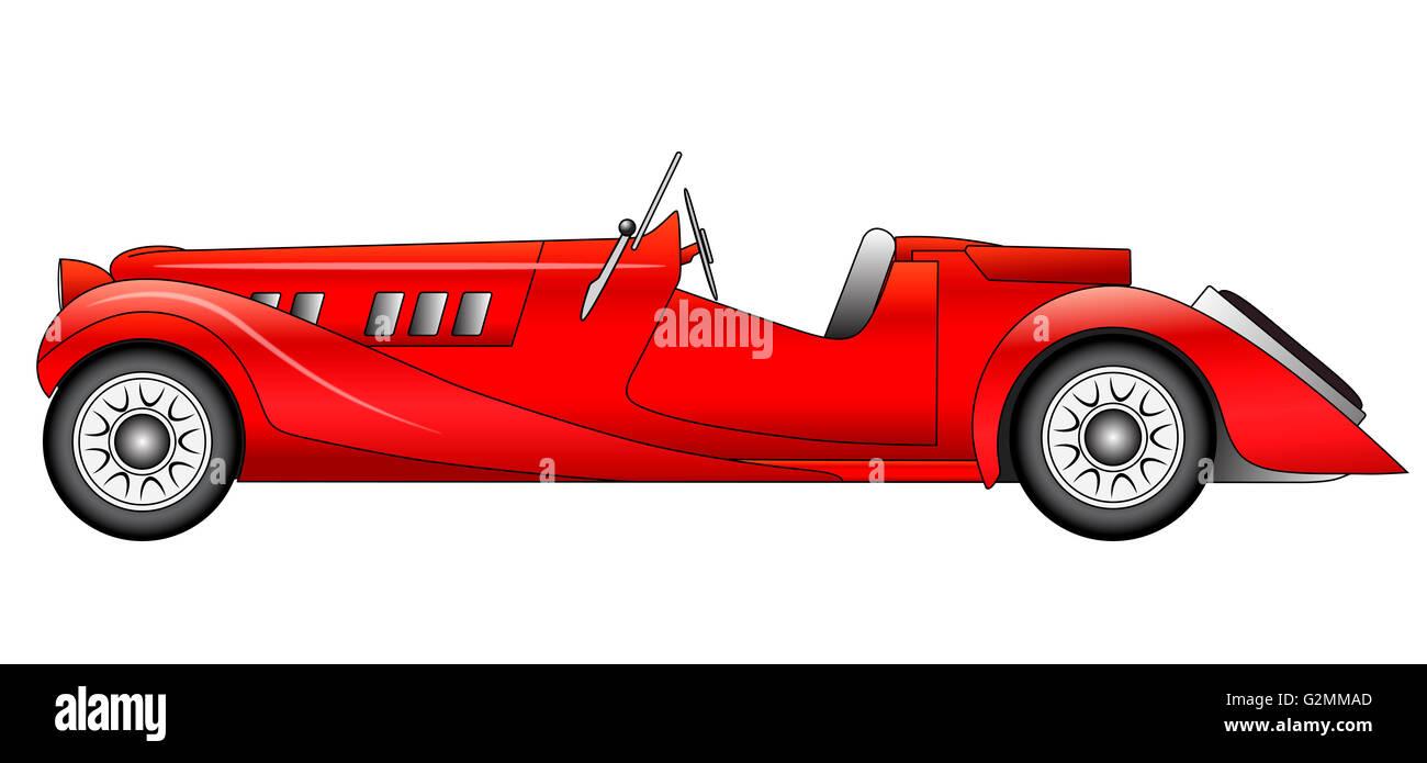 Old classic race car on white background - Aero Stock Photo ...