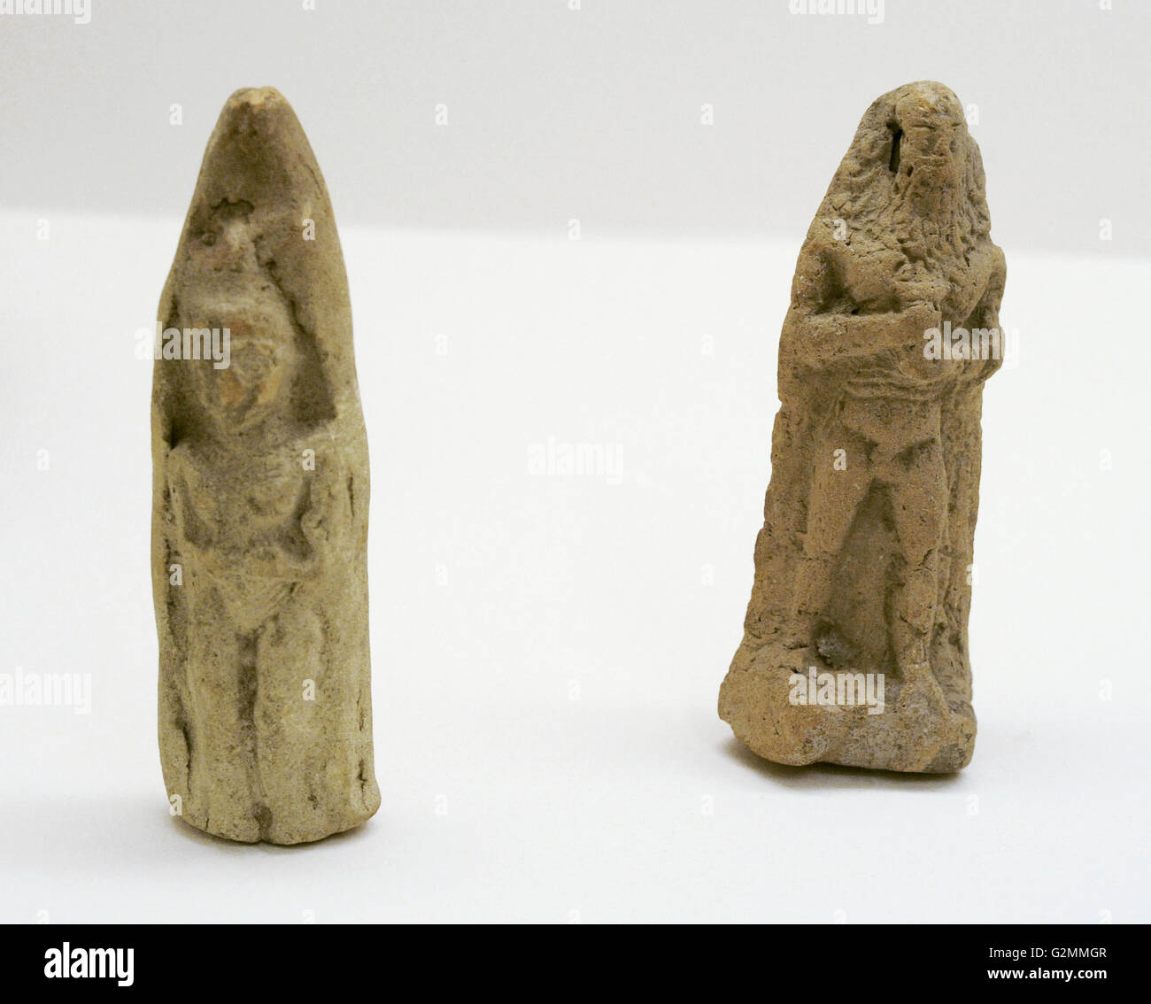 Near East. Terracota figurines. From Mesopotamia and Iran. The State Hermitage Museum. Saint Petersburg. Russia. - Stock Image