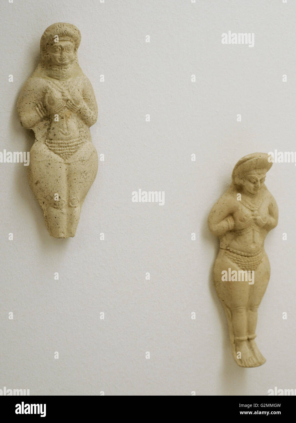 Near East. Terracotta figurines. From Mesopotamia and Iran. The State Hermitage Museum. Saint Petersburg. Russia. - Stock Image