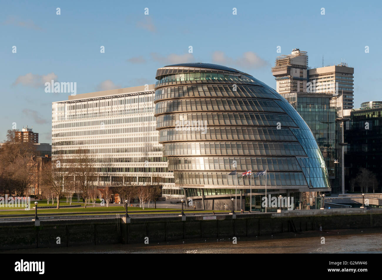 London City Hall, Greater London Authority or GLA Building, designed by Sir Norman Foster, Southwark, London, London - Stock Image