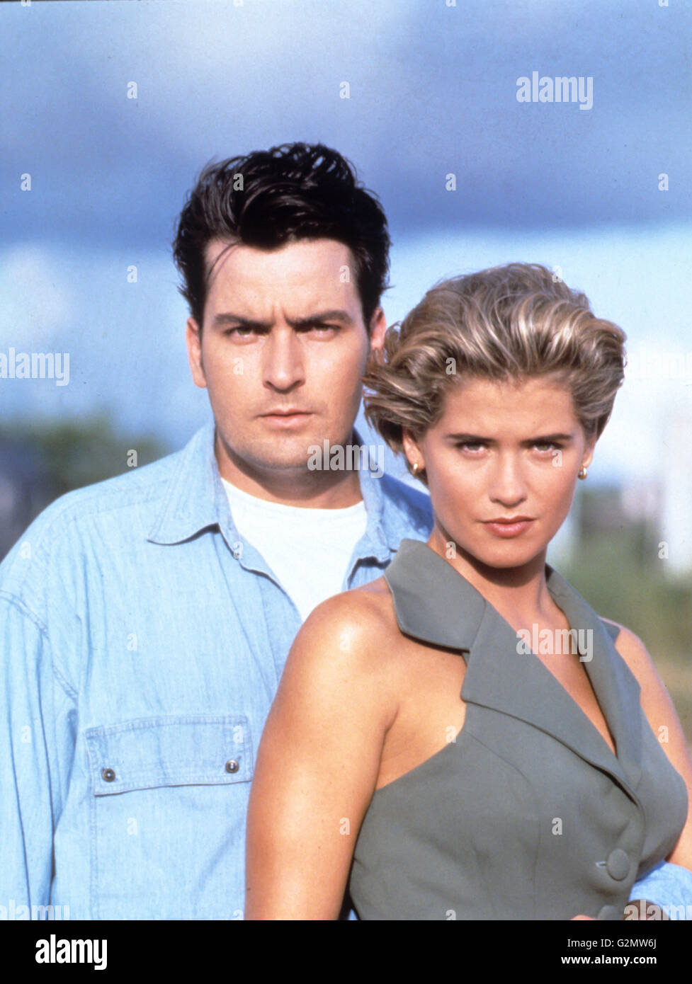 charlie sheen,kristy swanson,chase - Stock Image