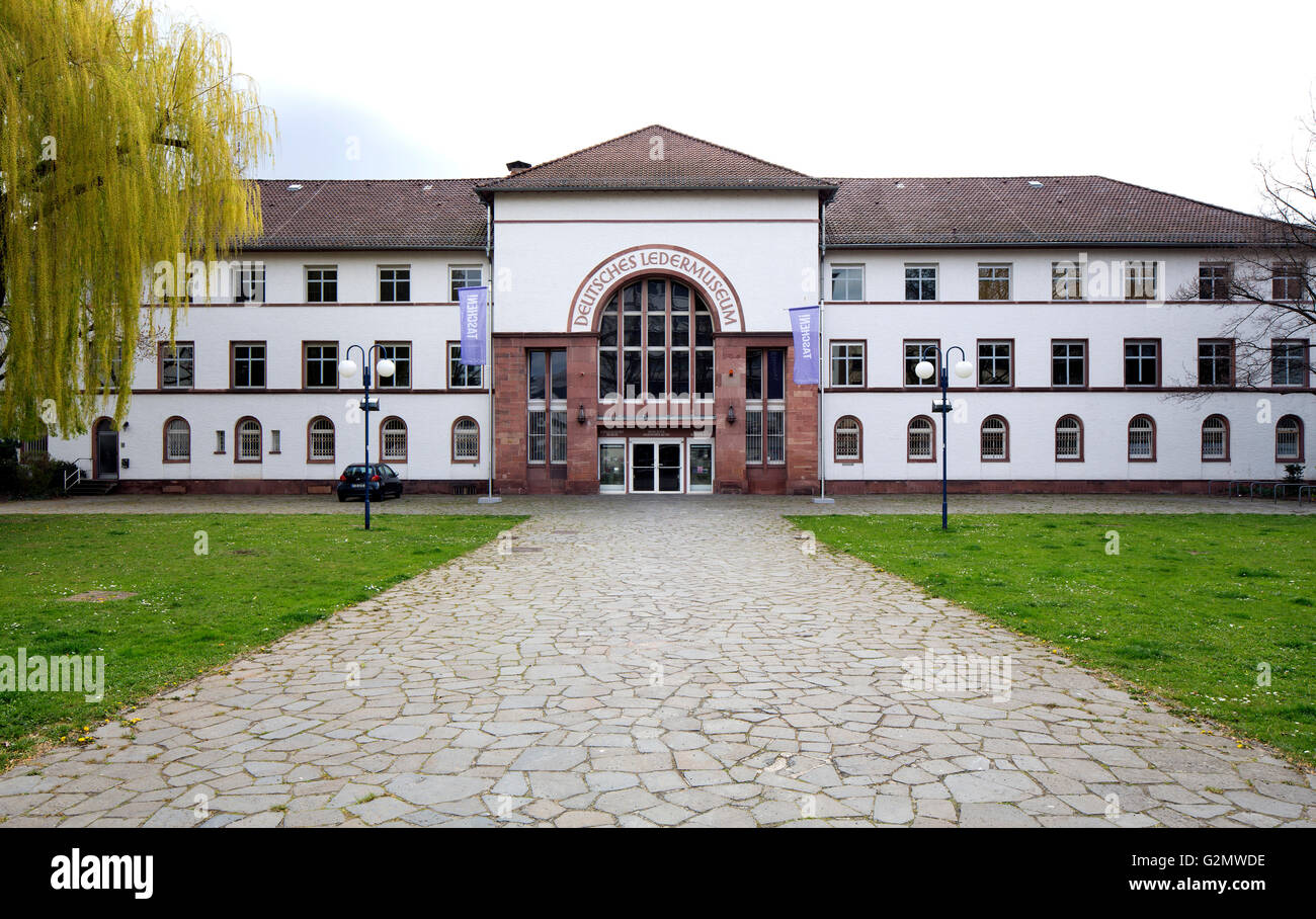German Leather Museum, Offenbach am Main, Hesse, Germany - Stock Image