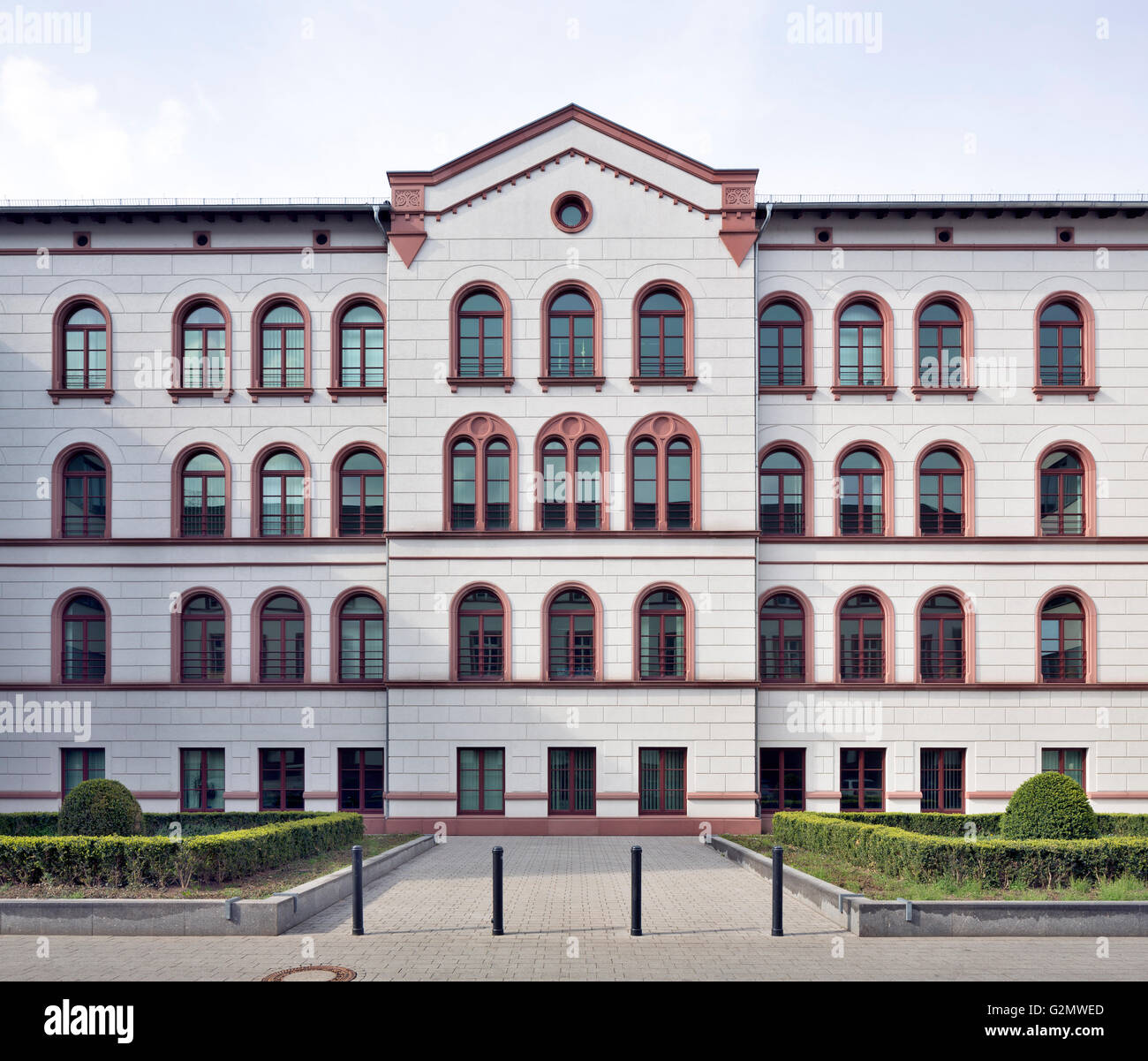 Judiciary Center Offenbach am Main, integrating former hospital building, domicile of District Court, Labour Court - Stock Image