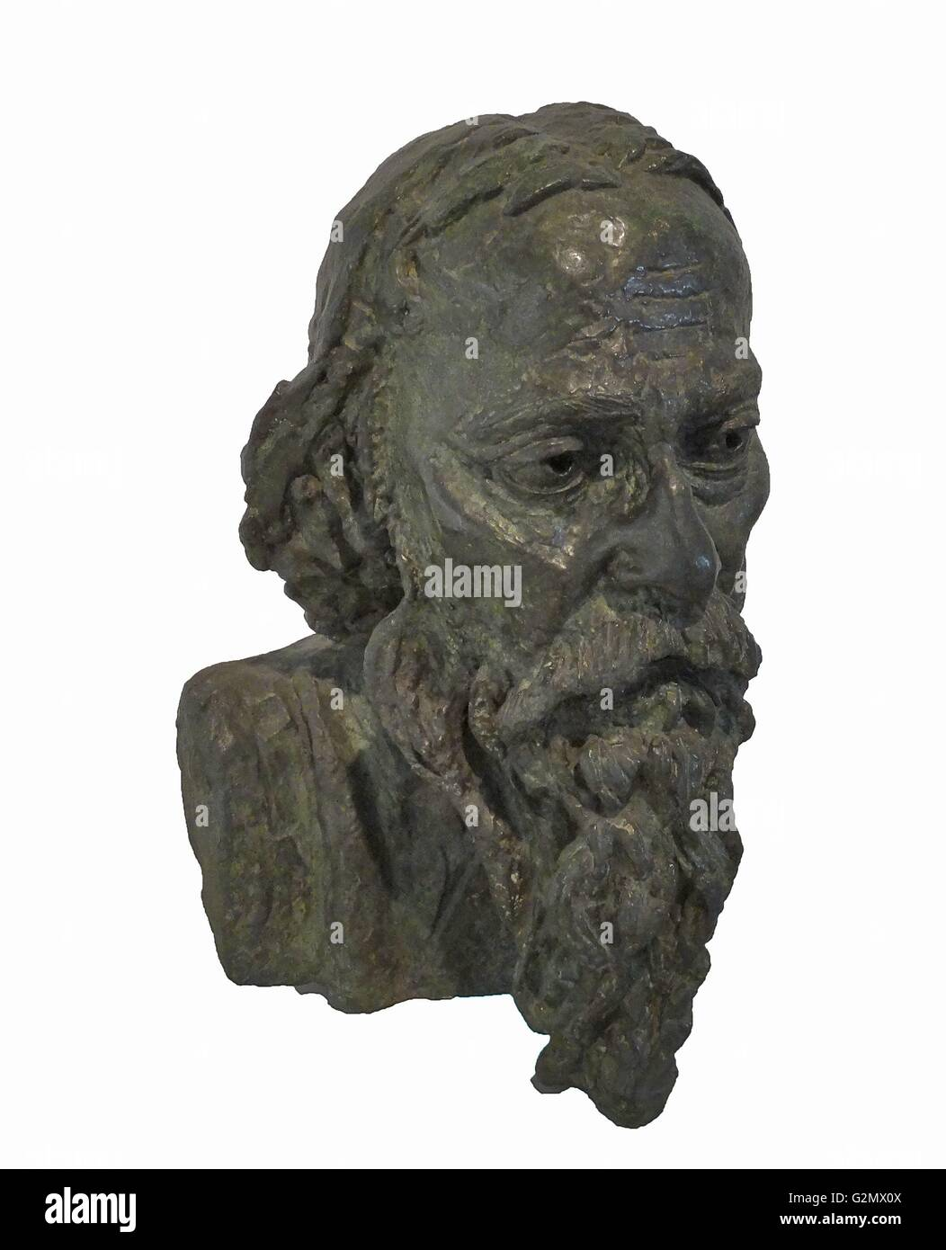 Rabindranath Tagore 1926 by the sculptor jacob Epstein 1880-1959 - Stock Image