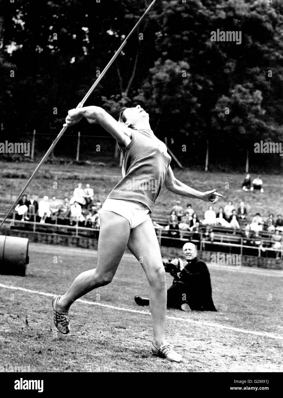 athletics,javelin,1960 - Stock Image