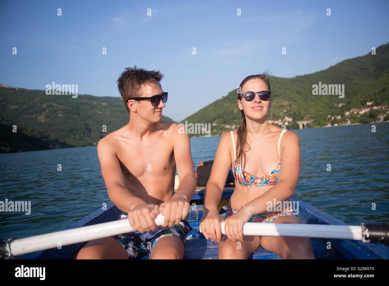 Adventure Happiness Recreational Pursuit Couple Concept - Stock Image