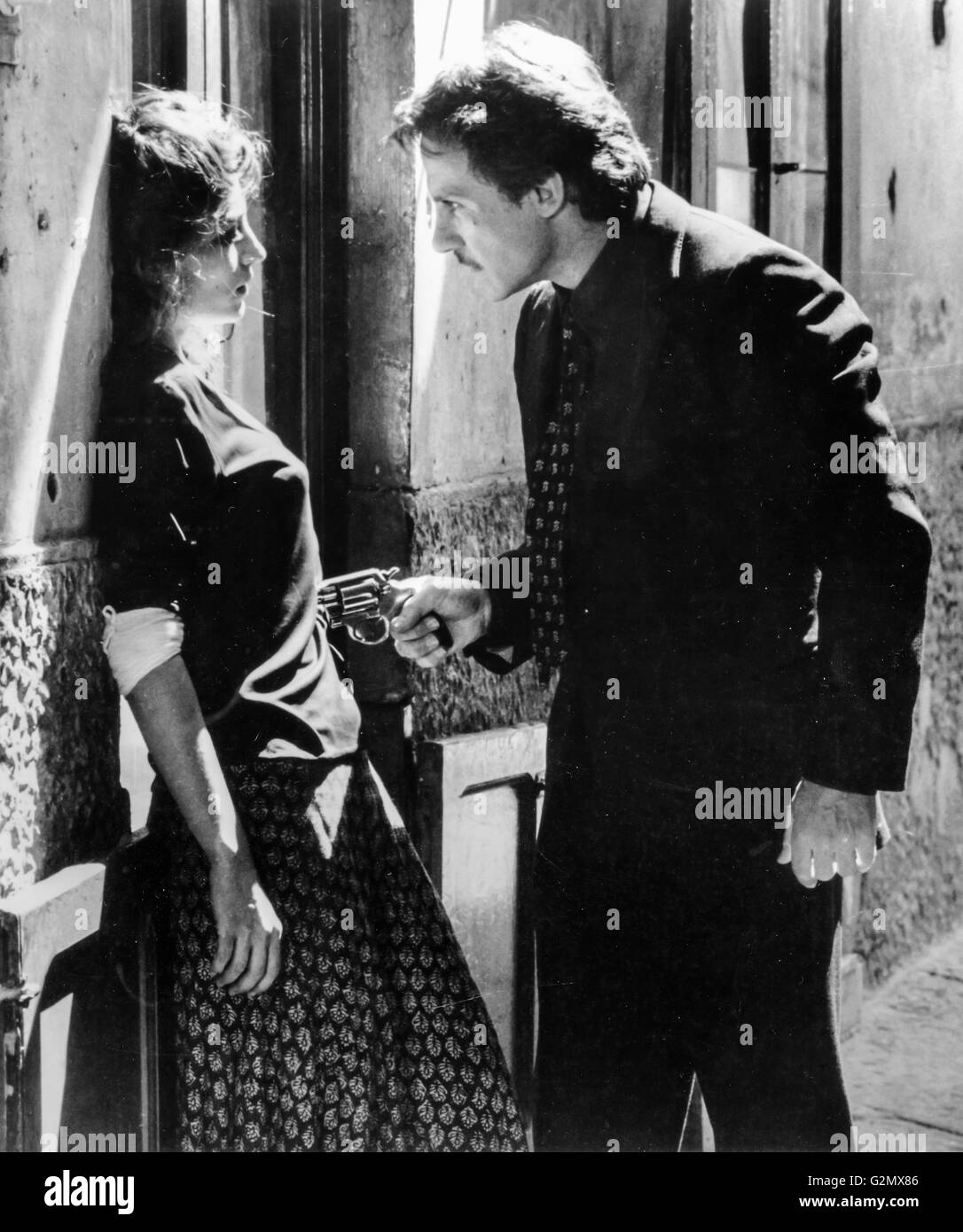 Angela Molina,Harvey Keitel in Camorra,1985 - Stock Image