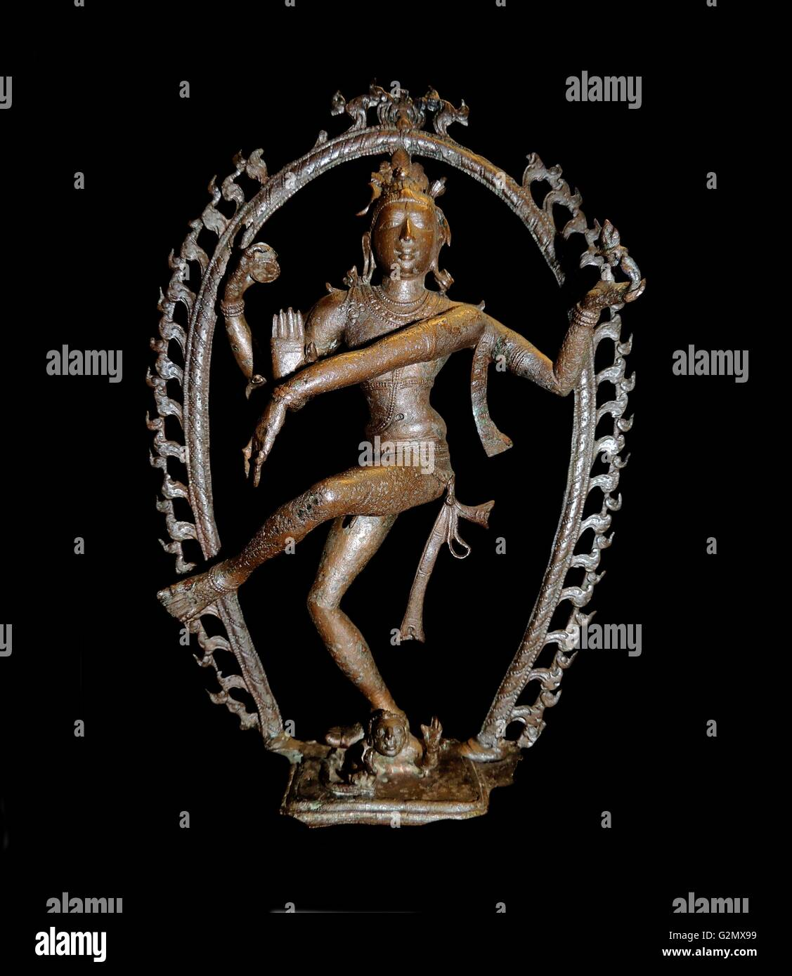Shiva as lord of the dance, Nataraja - Stock Image