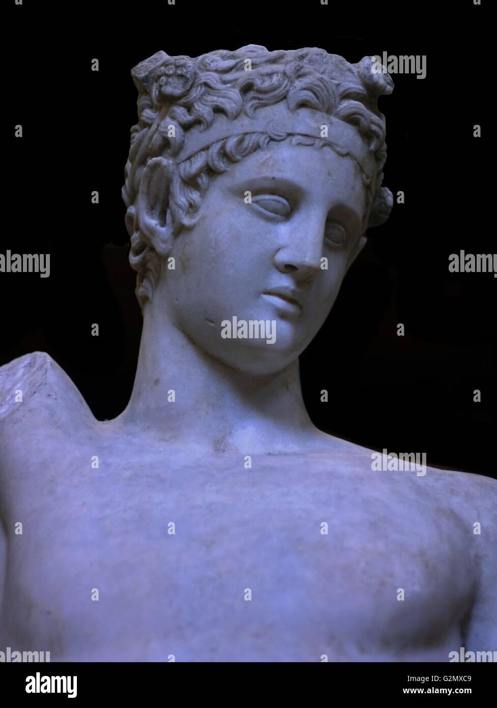Sculpture of Satyr 360 B.C. - Stock Image