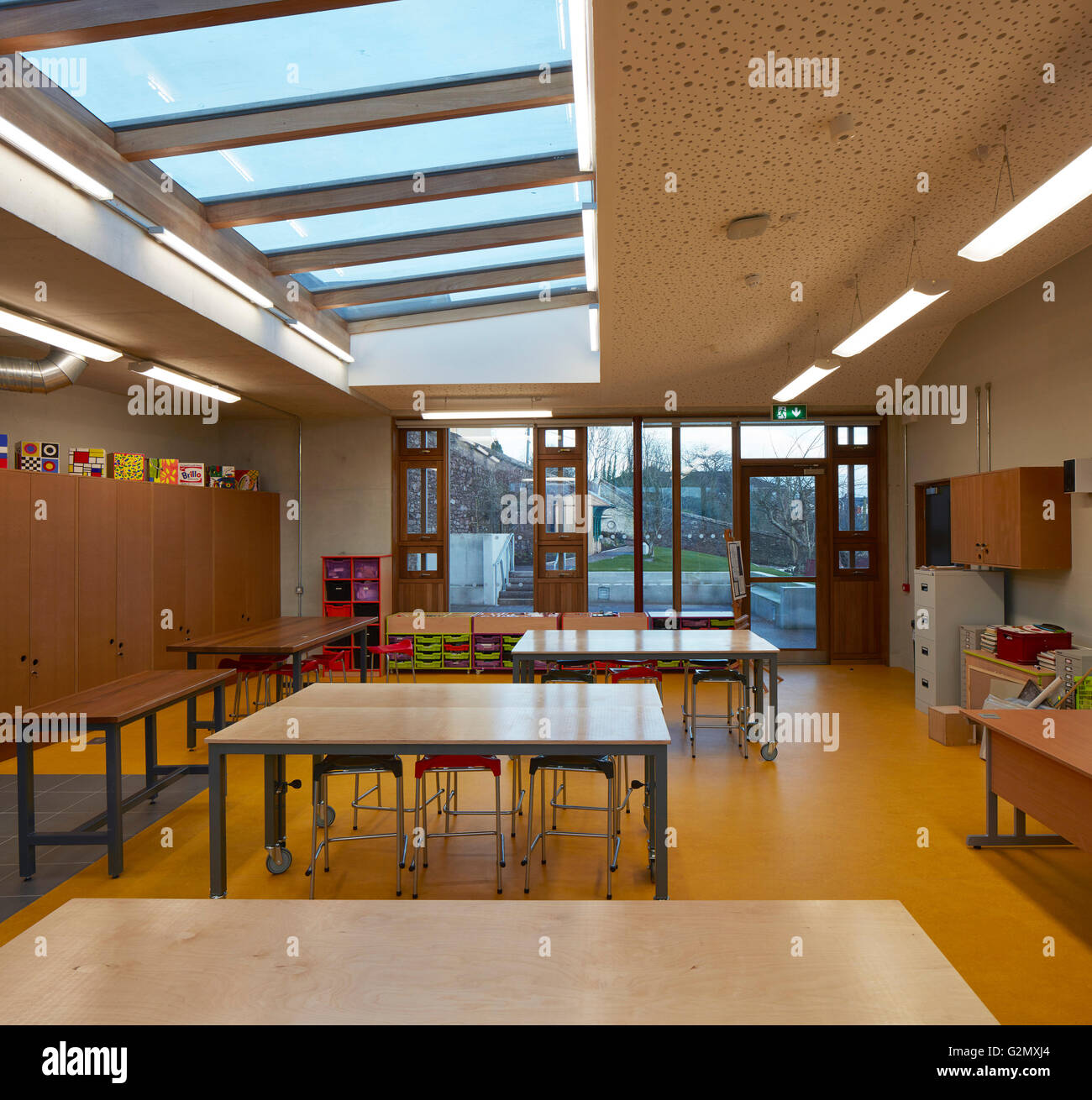 art classroom with skylight and orchard garden view st angelas college cork cork ireland architect odonnell tuomey architects 2016