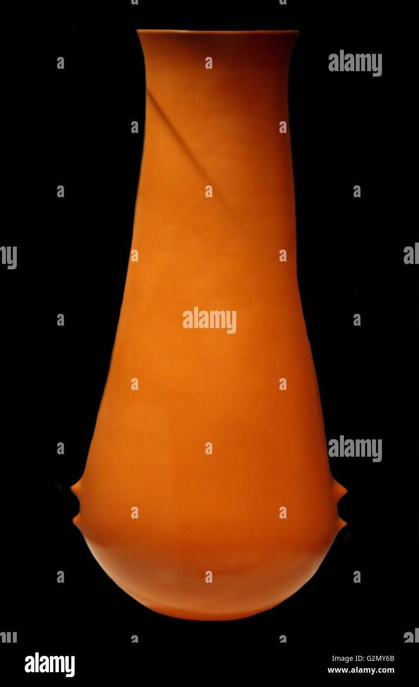 Oxidized Terracotta Vessel. - Stock Image