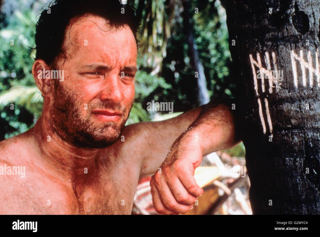 tom hanks,cast away,2000 - Stock Image