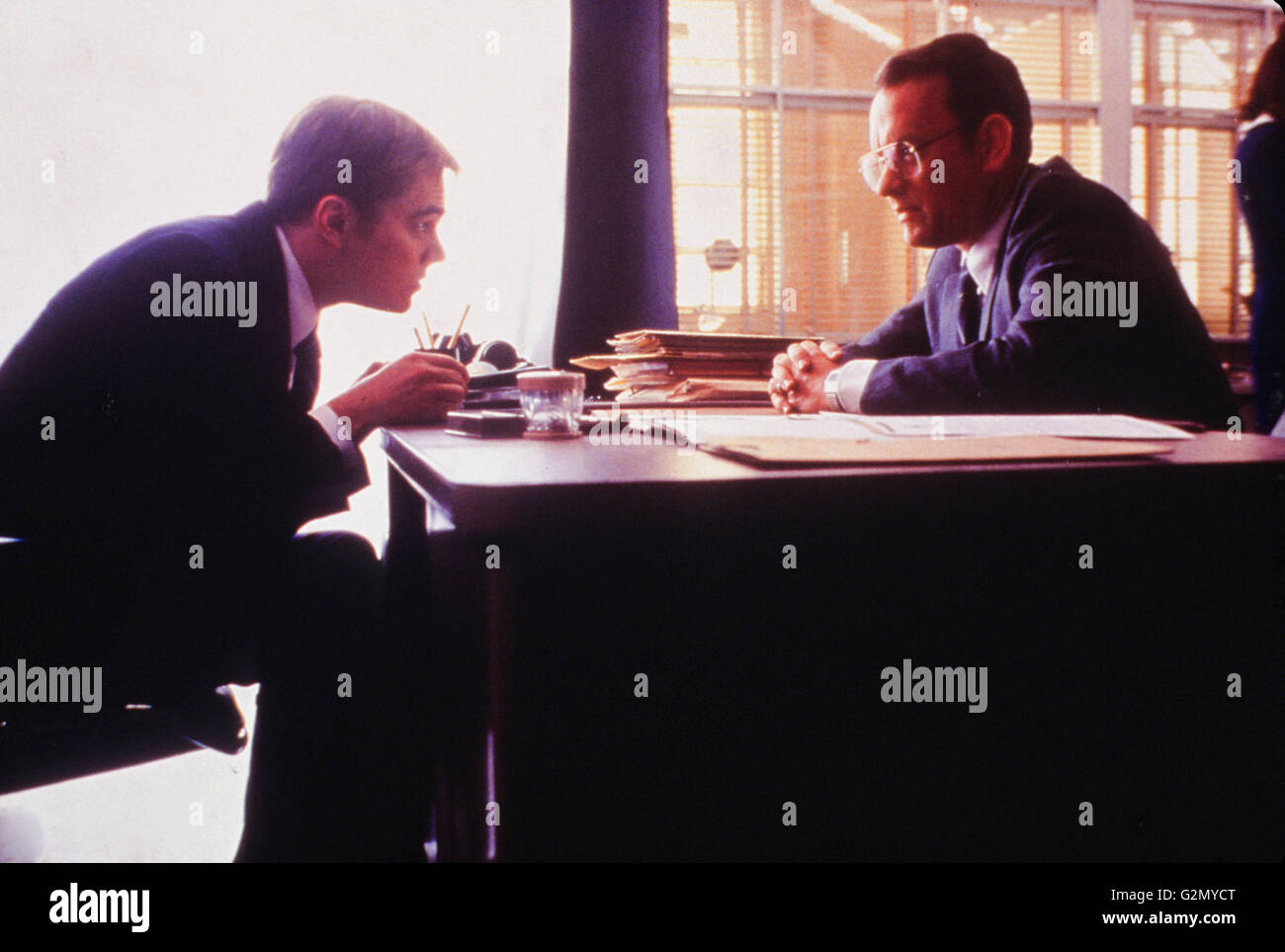tom hanks,leonardo di caprio,catch me if you can,2002 - Stock Image