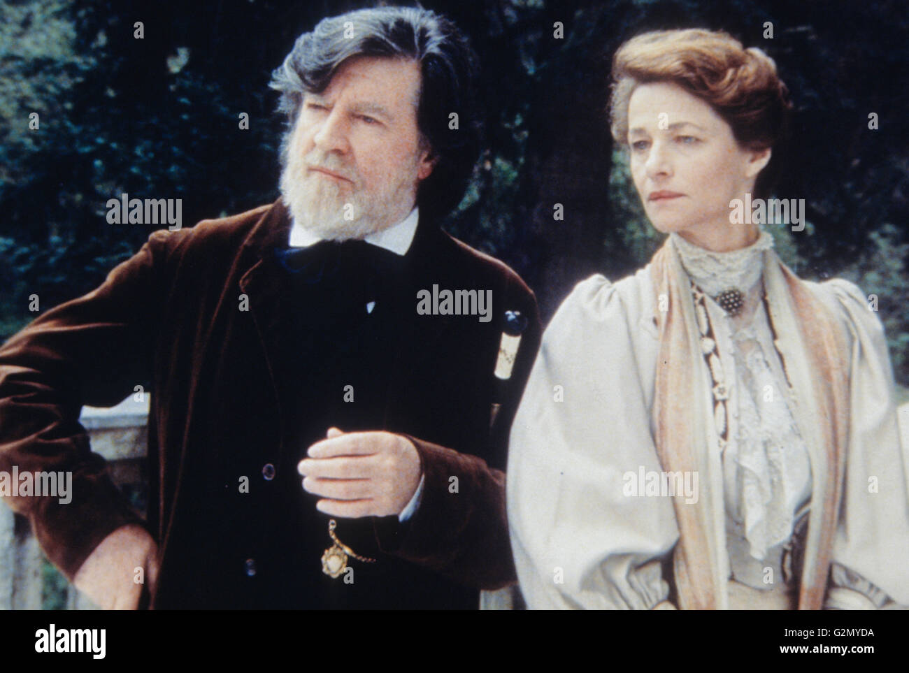 alan bates,charlotte rampling,the cherry orchard,2000 - Stock Image