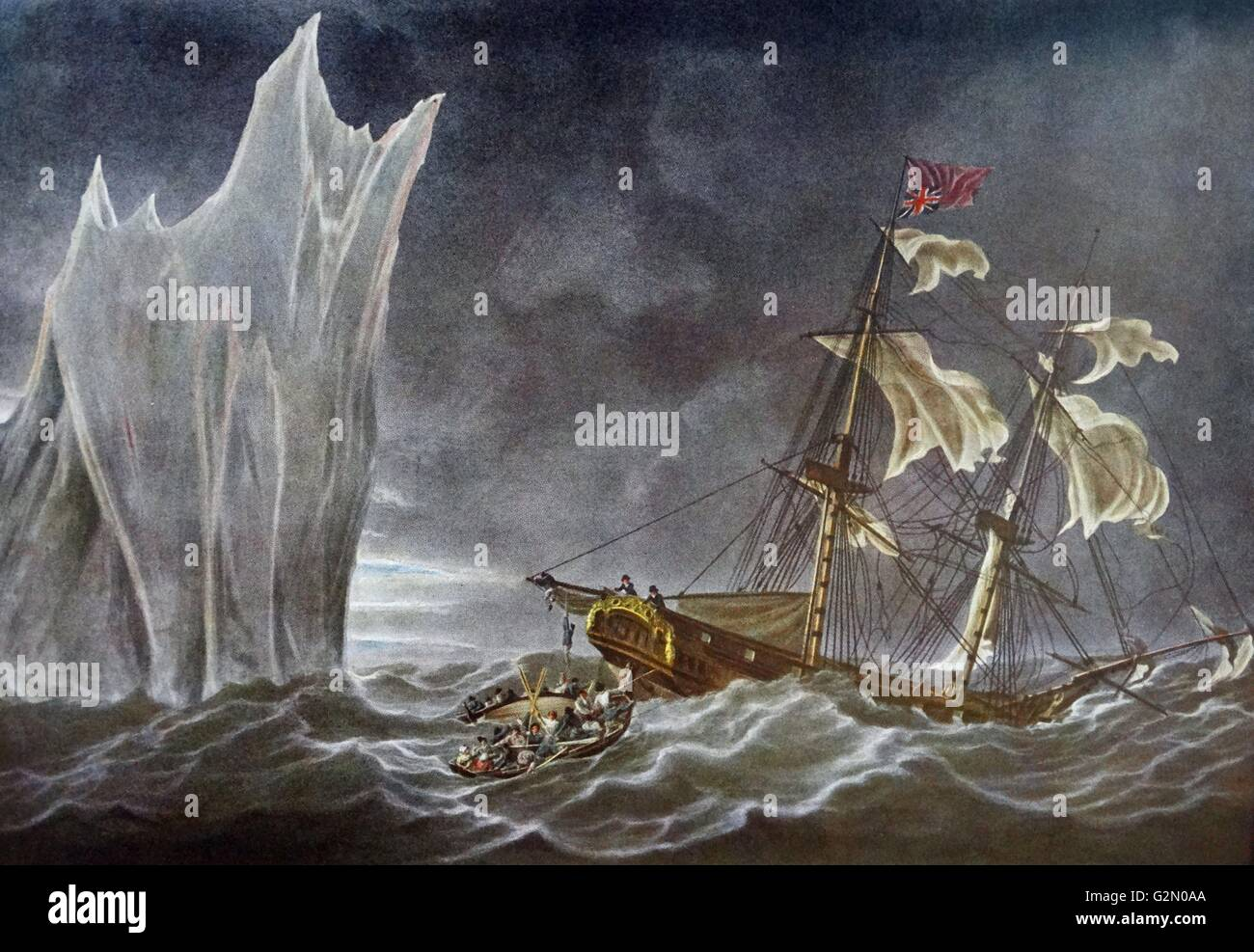 wreck of the lady Hobart 1803 . - Stock Image