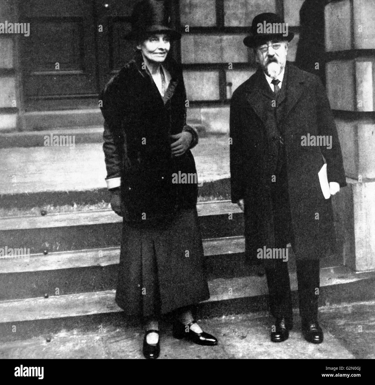 Sidney James Webb and Beatrice Webb 1929 - Stock Image