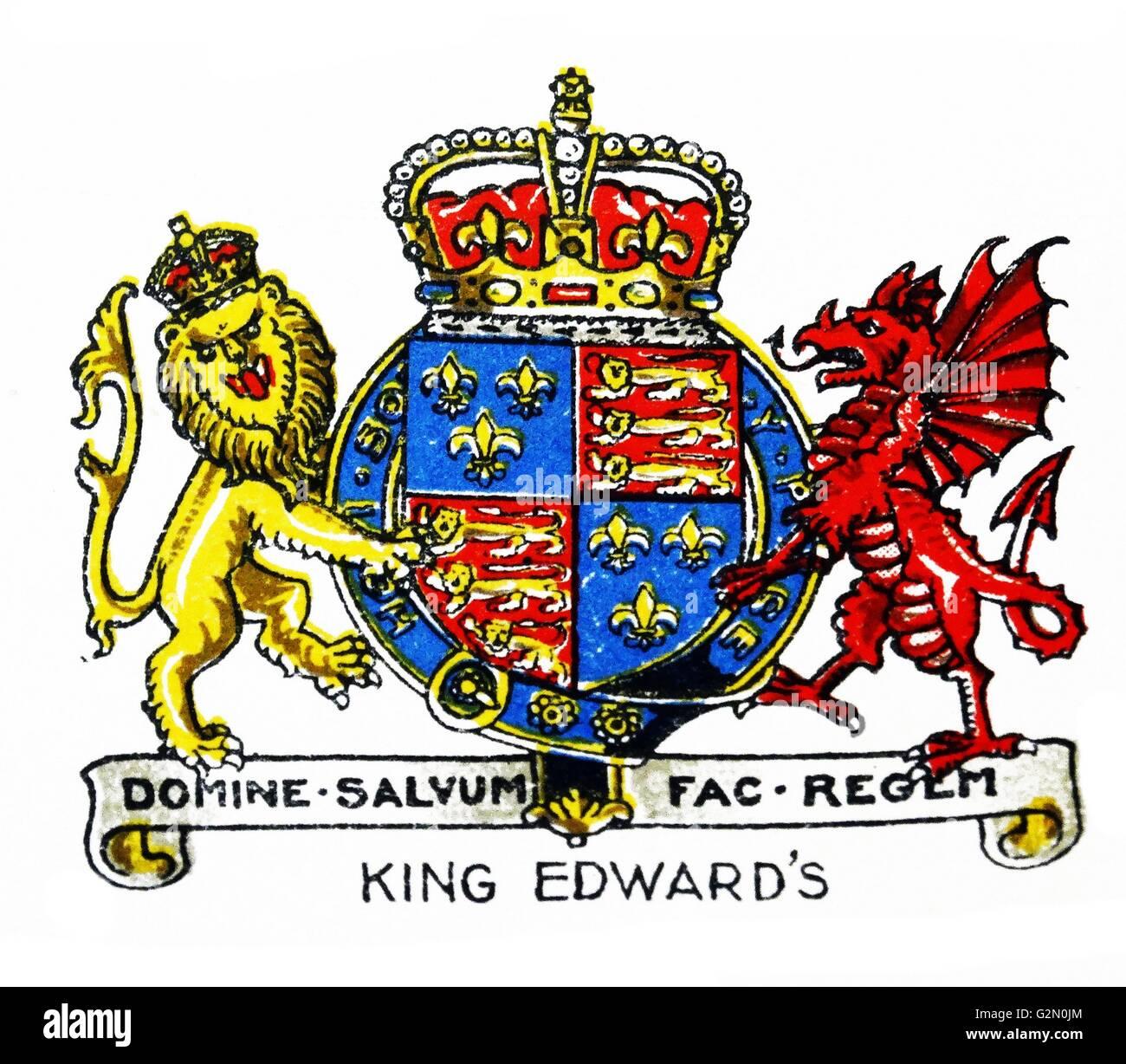 Emblem of King Edward VI School, Bury St Edmunds, Suffolk, England - Stock Image