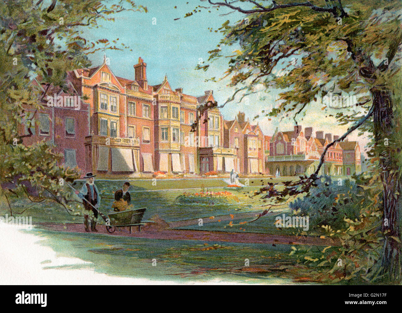 Sandringham House, Norfolk, England in the 19th century.  From The Century Edition of Cassell's History of England, - Stock Image