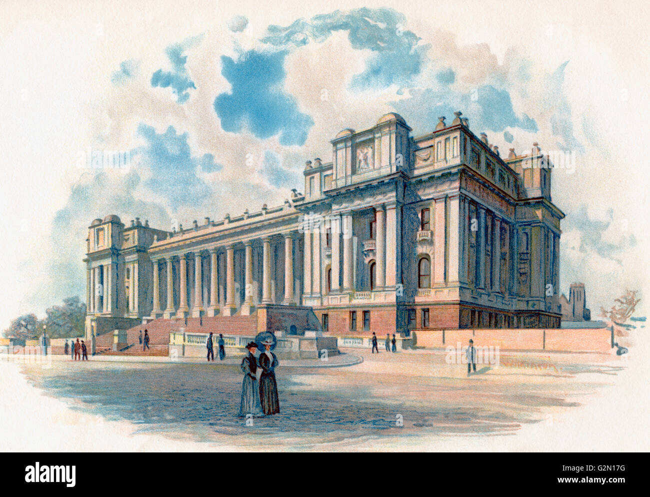 Parliament House, Melbourne, Australia in the 19th century. - Stock Image