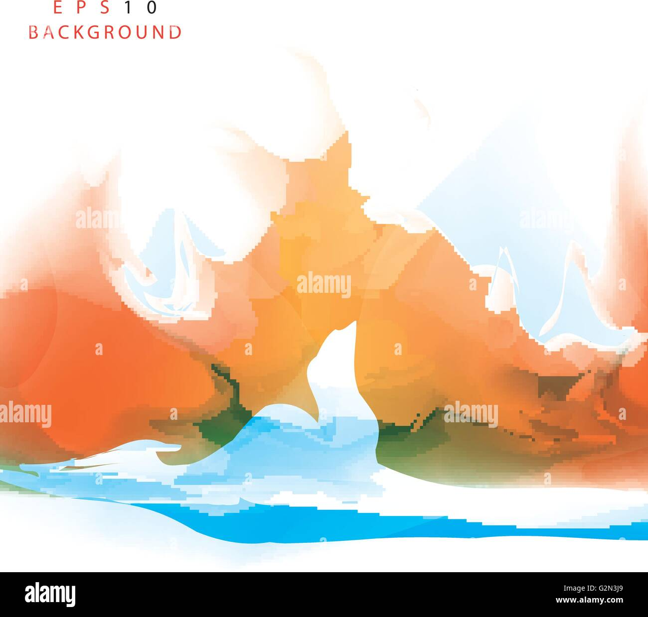 Vector background abstract orange and blue background design stock vector background abstract orange and blue background design altavistaventures Images