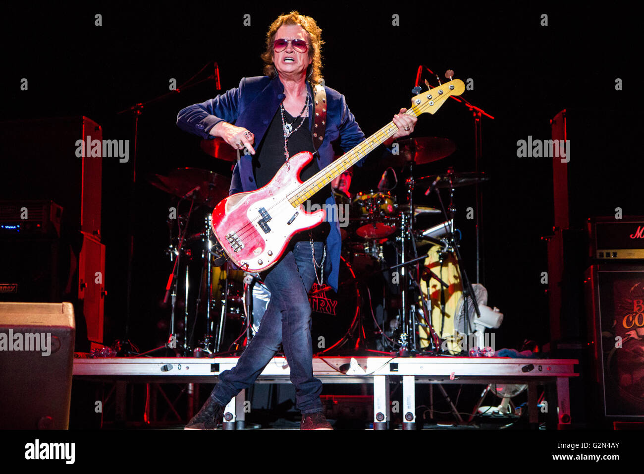 Vigevano Italy. 28th June 2011. The English-American supergroup BLACK COUNTRY COMMUNION performs live on stage at - Stock Image