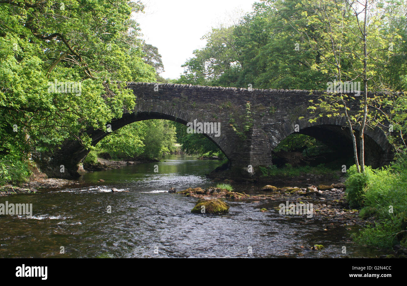 The Bridge over the River Brathay at Clappersgate - Stock Image