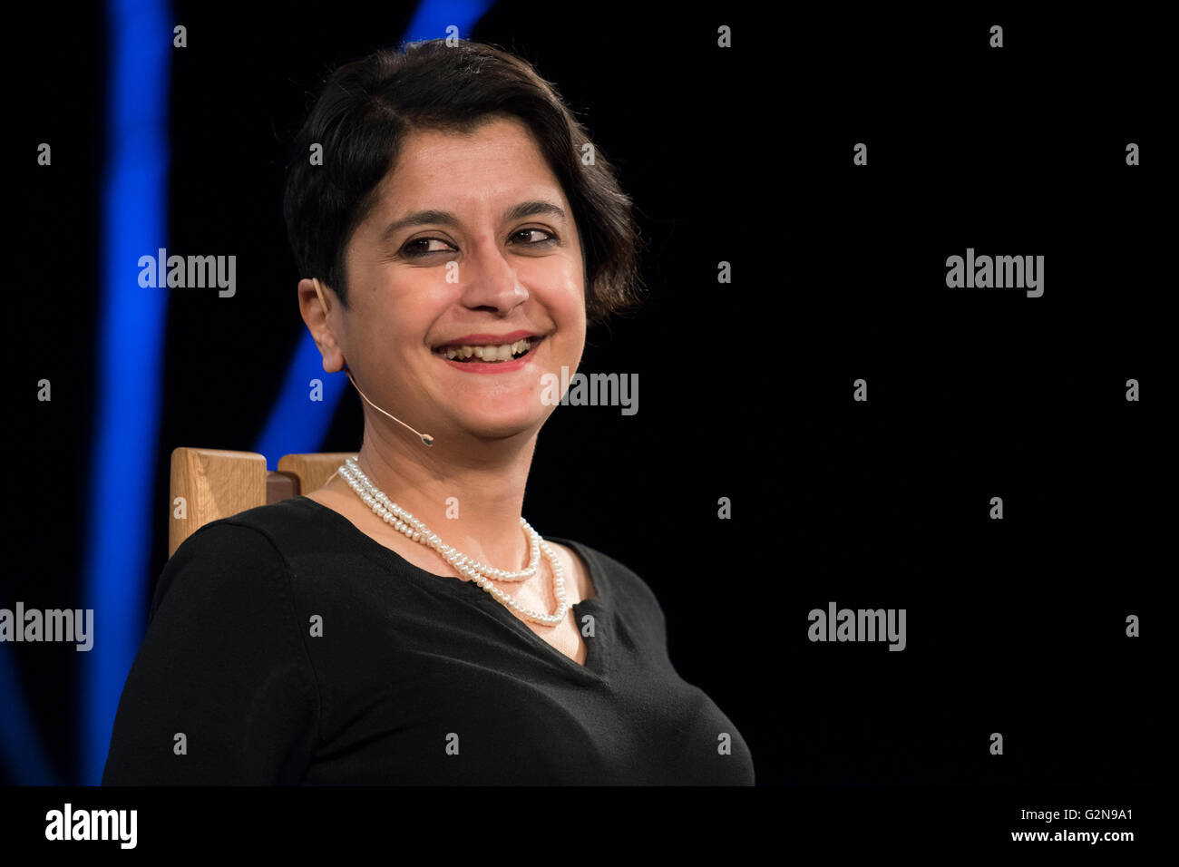 Shami Chakrabarti speaks at the 2016 hay festival in Hay-on-Wye, Wales, UK. - Stock Image