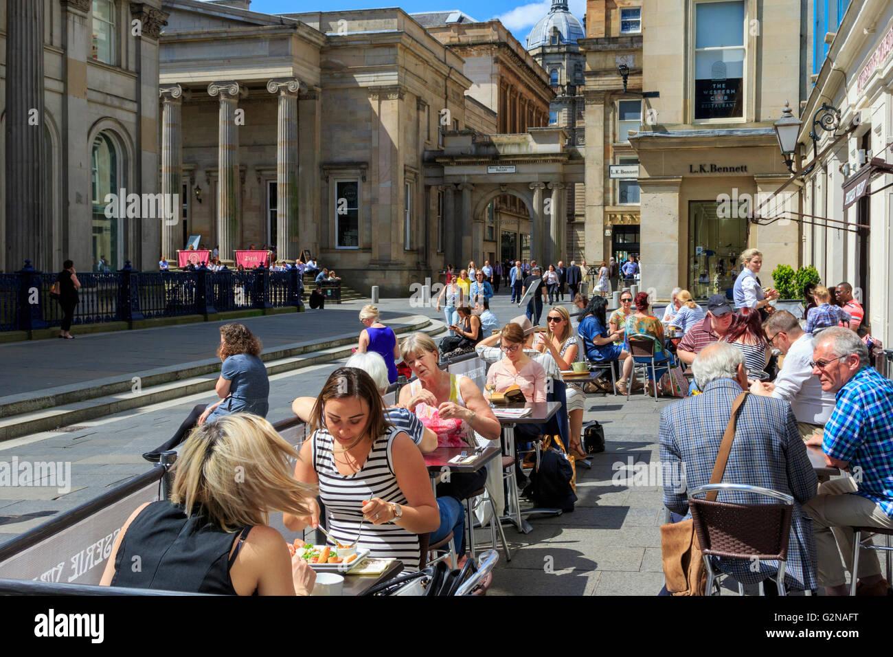 Royal Exchange Square Glasgow Scotland Stock Photos