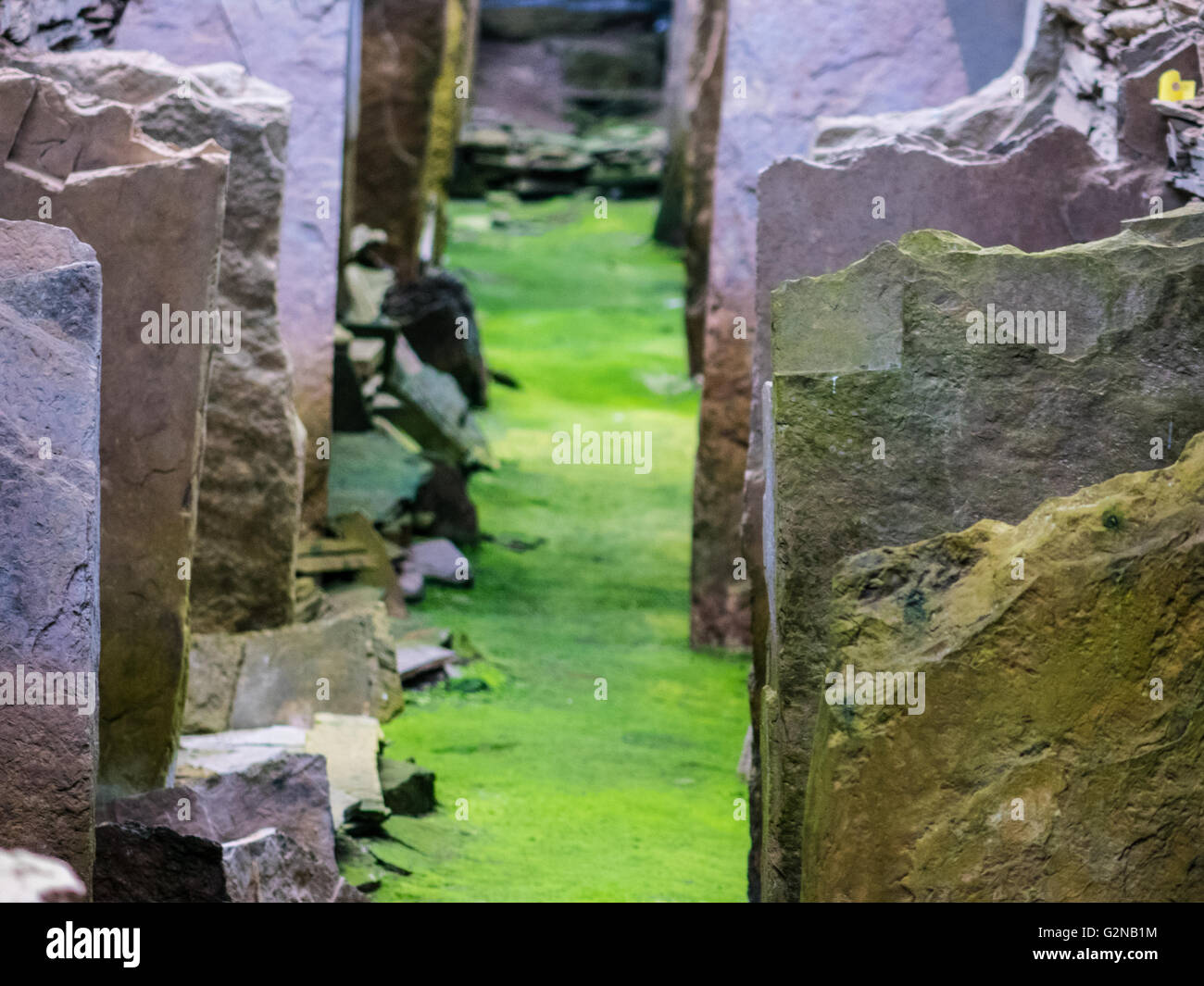 Midhowe neolithic chambered tomb on Rousay, Orkney. - Stock Image