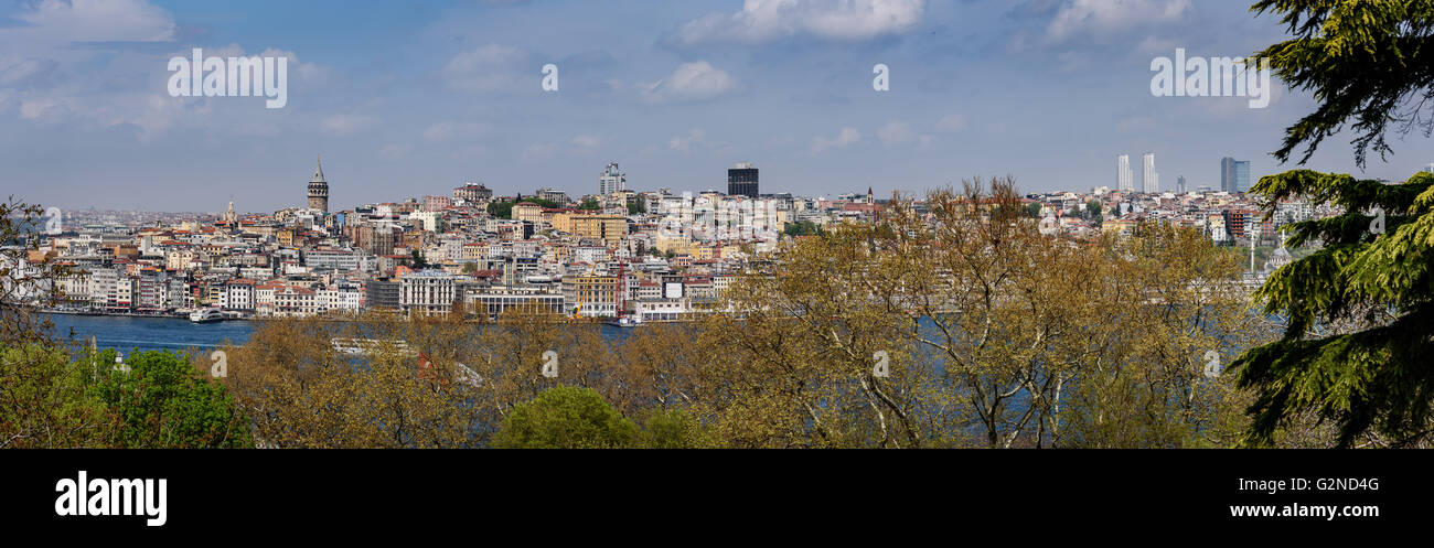 Istanbul historically also known as Constantinople and Byzantium, is the most populous city in Turkey - Stock Image